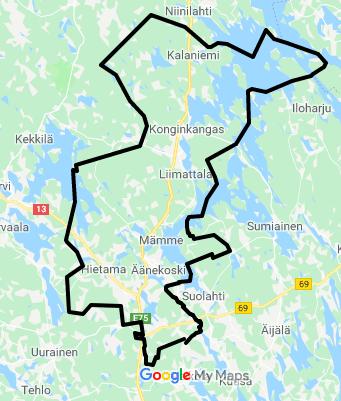 toiminta-alue Äänekoski-Konginkangas